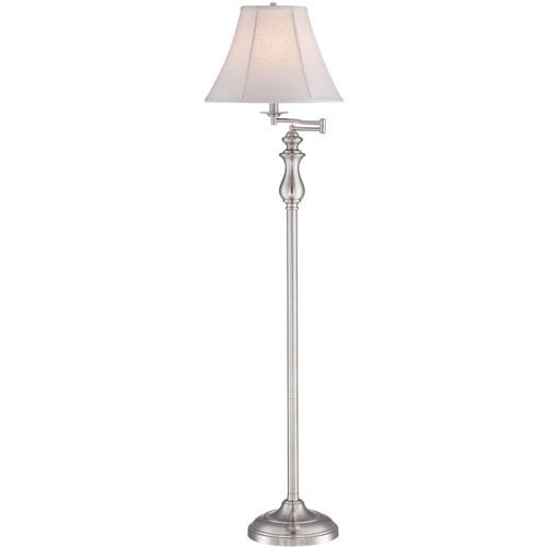 Quoizel Brushed Nickel One-Light Floor Lamp
