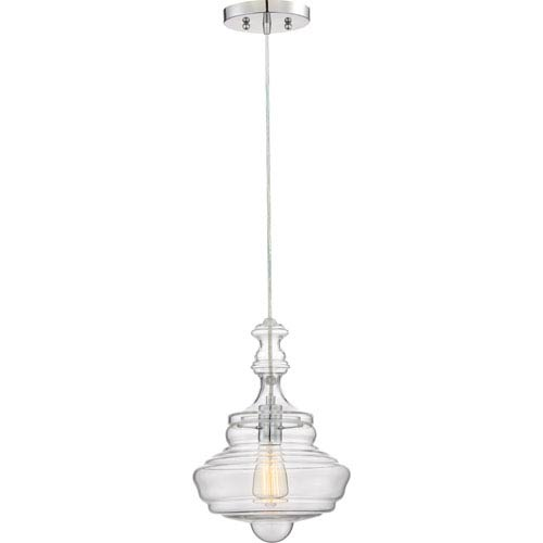 Polished Chrome 10-Inch One-Light Pendant
