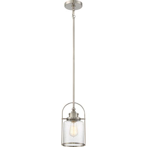 Charmant Quoizel Payson Brushed Nickel 7 Inch One Light Mini Pendant
