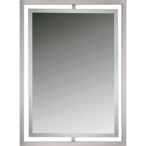 Reflections Brushed Nickel Twenty Four Inch Rectangular Mirror