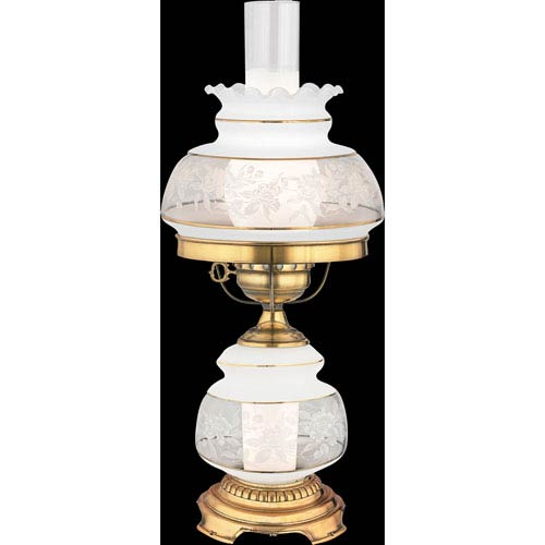 Satin Lace Small Hurricane Lamp