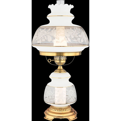 Satin Lace Large Hurricane Lamp