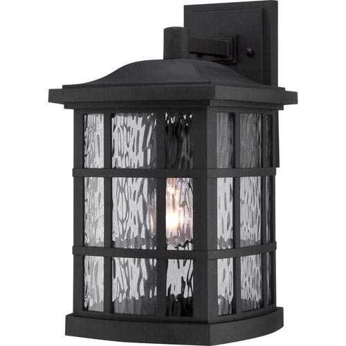Quoizel Stonington Mystic Black 15.5-Inch Height One-Light Outdoor Wall Mounted