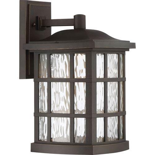 Stonington Palladian Bronze 9.5-Inch Outdoor LED Wall Lantern