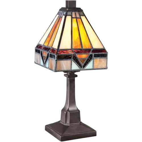 Tiffany Vintage Bronze 11.5-Inch One-Light Table Lamp