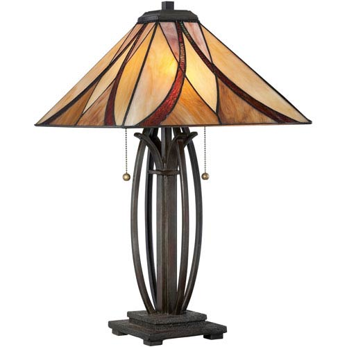 Tiffany style table lamps up to 50 off retail bellacor tiffany bronze two light le tiffany table lamp aloadofball Image collections
