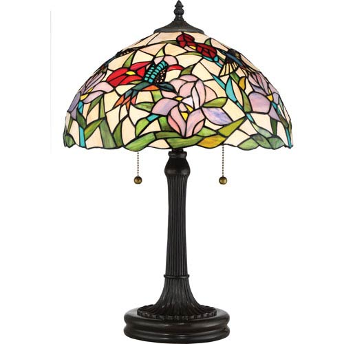 Quoizel Hummingbird Vintage Bronze 16 Inch Two Light Table Lamp
