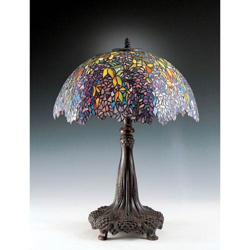 Tiffany style table lamps up to 50 off retail bellacor falling leaves tiffany table lamp aloadofball Image collections
