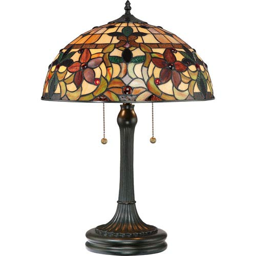 Kami Vintage Bronze Two-Light Table Lamp