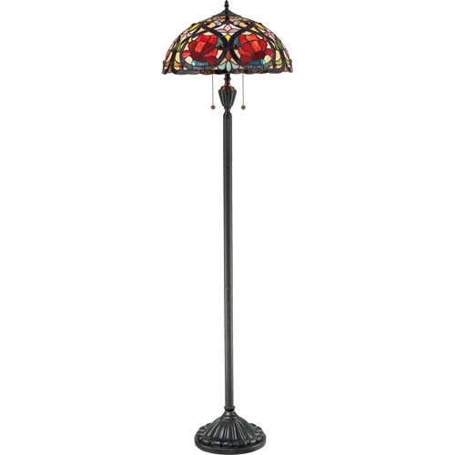 Quoizel Larissa Vintage Bronze Two-Light Floor Lamp