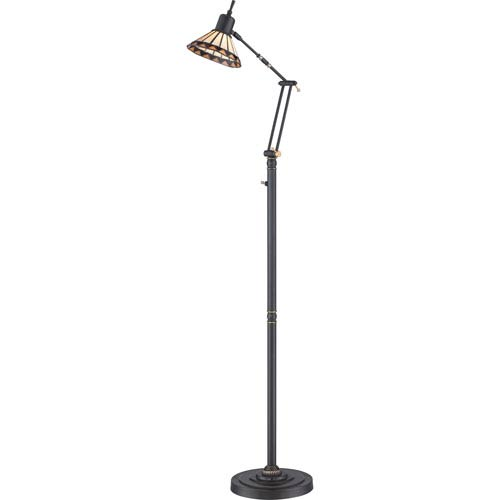 Tiffany Medici Bronze 22.5-Inch LED Floor Task Lamp