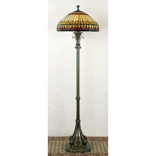 Glass shade floor lamps free shipping bellacor west end tiffany floor lamp aloadofball Gallery