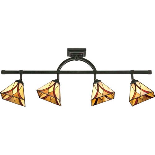 Asheville Valiant Bronze 43 5 Inch Four Light Ceiling Track Fixture