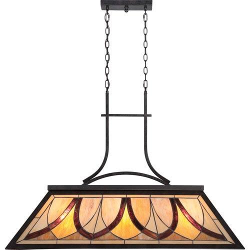 Quoizel Asheville Valiant Bronze Three Light Island Light