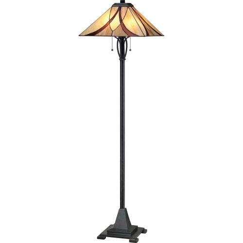 Asheville Valiant Bronze 60-Inch Two-Light Floor Lamp