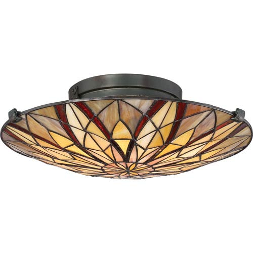 Victory Valiant Bronze Two-Light Flush Mount