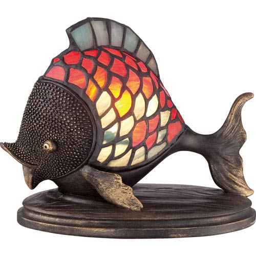 Ashley Harbor Tiffany One-Light Accent Fish