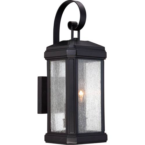 Quoizel Trumbull Mystic Black 18.5-Inch Height Two-Light Outdoor Wall Mounted