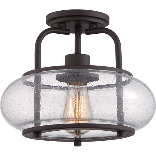 Trilogy Old Bronze One-Light Semi-Flush Mount