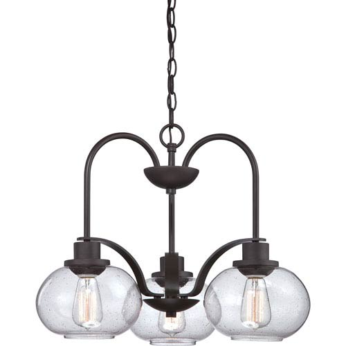 Quoizel Trilogy Old Bronze Three Light Chandelier