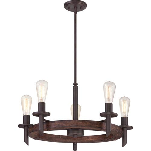 Quoizel Tavern Darkest Bronze 13-Inch Five-Light Chandelier