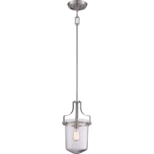 Quoizel Uptown Penn Station Brushed Nickel One Light Mini Pendant