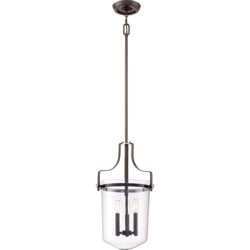 Quoizel Uptown Penn Station Western Bronze Three Light Pendant