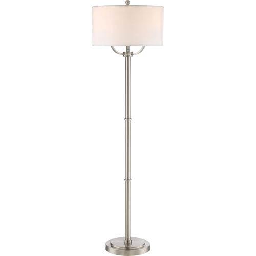Vivid Collection Broadway Brushed Nickel 17-Inch Three-Light Floor Lamp