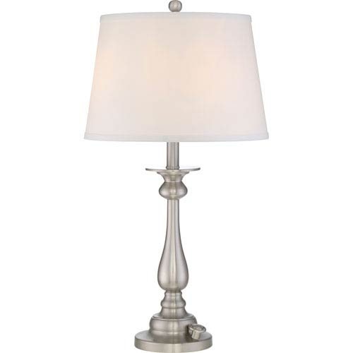 Vivid Kingsley Brushed Nickel Three-Light Table Lamp