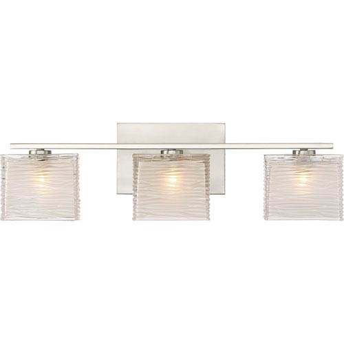 Quoizel Westcap Brushed Nickel 23-Inch Three-Light Bath Light