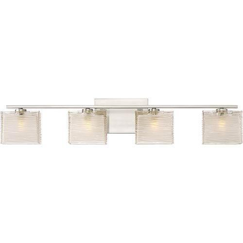 Westcap Brushed Nickel 32-Inch Four-Light Bath Light