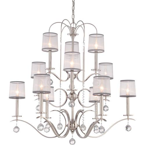 Whitney Imperial Silver Twelve-Light Chandelier