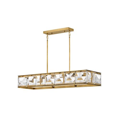 Jolie Heritage Brass LED Linear Pendant