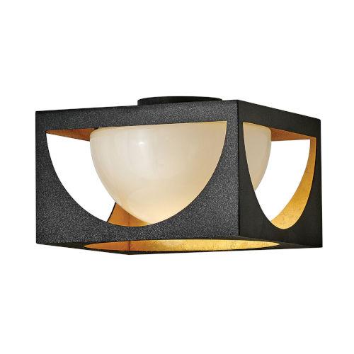 Vega Anvil Black One-Light Flush Mount