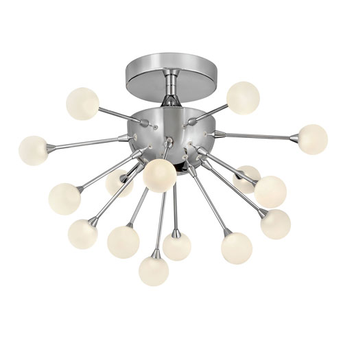 Impulse Polished Chrome 15-Inch 15-Light LED Semi-Flush Mount