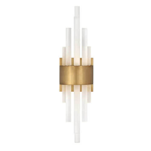 Trinity Heritage Brass LED Wall Sconce with Frosted Glass