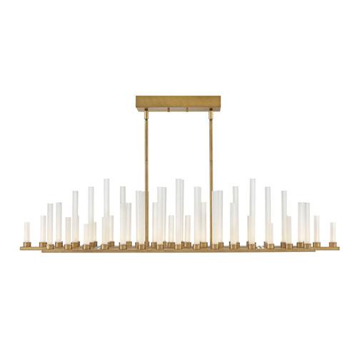 Trinity Heritage Brass 48-Inch LED Chandelier