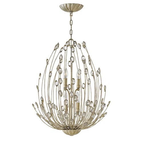 Fredrick Ramond Tulah Silver Leaf Four-Light Pendant