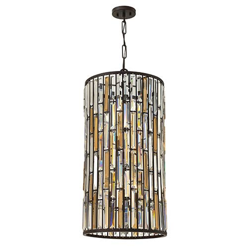 Gemma Vintage Bronze Six Light Foyer Pendant