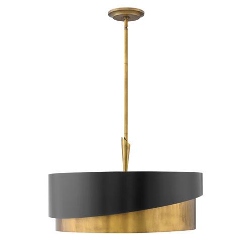 Gigi Heritage Brass Five-Light Stem Hung Pendant