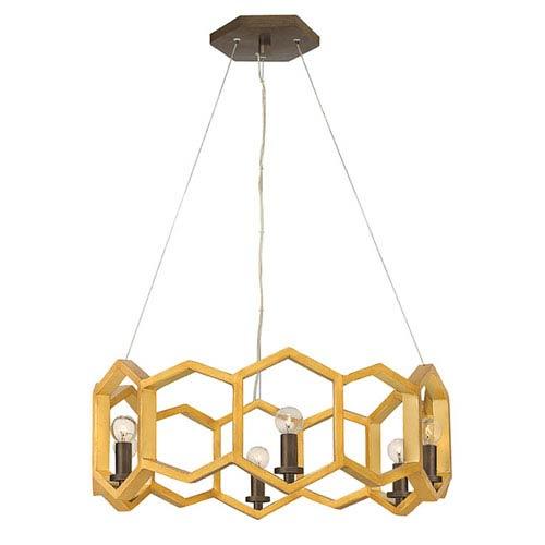 Moxie Sunset Gold Six-Light 22-Inch Pendant