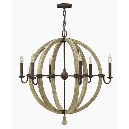 Middlefield Iron Rust 30-Inch Six Light Chandelier