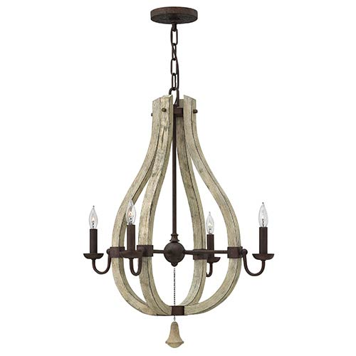 Middlefield Iron Rust Four Light Chandelier