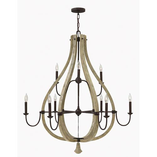 Middlefield Iron Rust Nine Light Chandelier