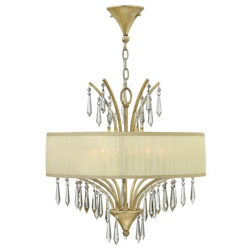 Camilla Silver Leaf 20-Inch Five-Light Chandelier