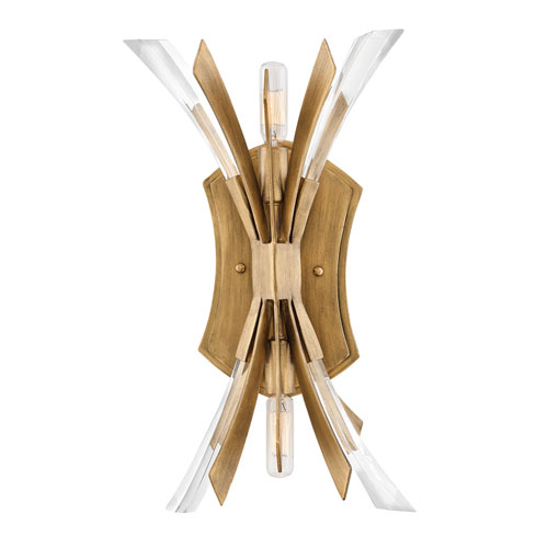 Vida Burnished Gold Two-Light Wall Sconce