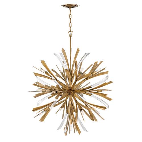 Vida Burnished Gold 42-Inch Thirteen-Light Pendant