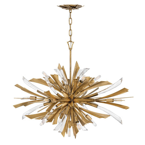 Vida Burnished Gold 28-Inch Thirteen-Light Pendant