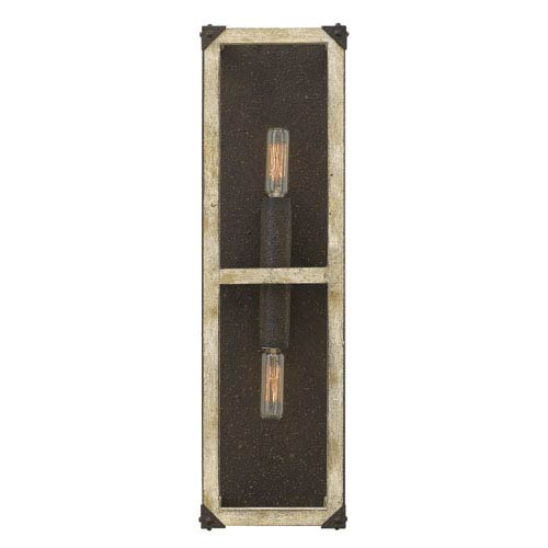 Emilie Iron Rust 20-Inch Two-Light Wall Sconce