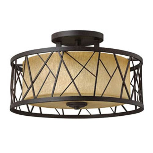 Nest Oil Rubbed Bronze Three-Light Semi-Flush Mount